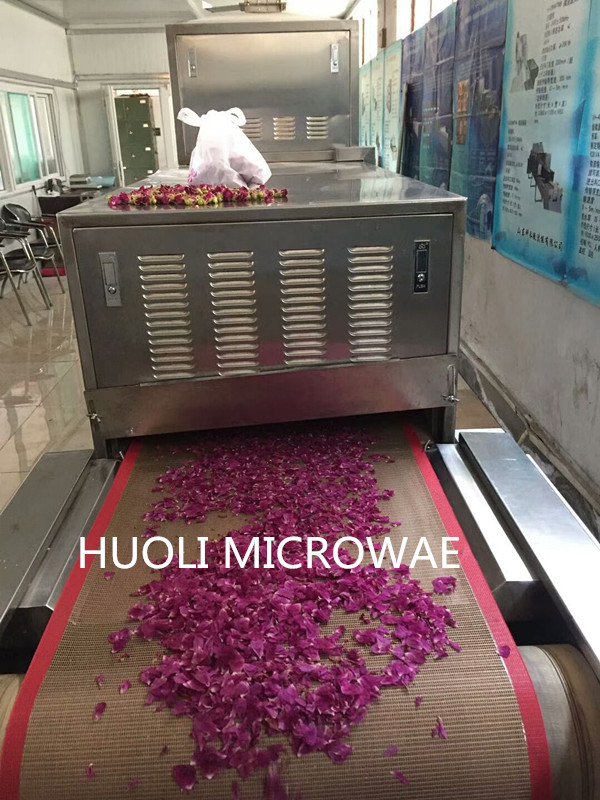 Microwave Dryer Rose Flower Drying Machine Automatic 10 KW Efficient