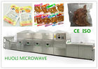 Tunnel Microwave Sterilization Machine / Belt Type Food Drying Sterilizing Equipment