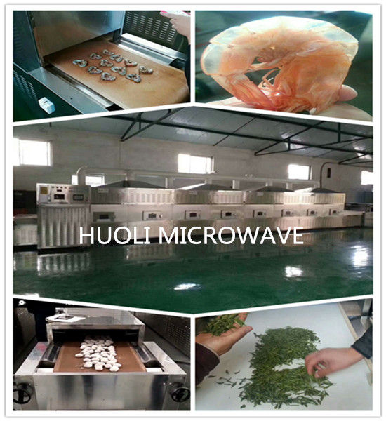 Automatic Microwave Drying Equipment Belt Type Microwave